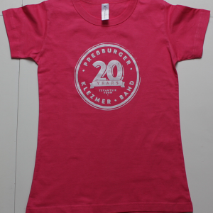 t-shirt ladies fuchsia white